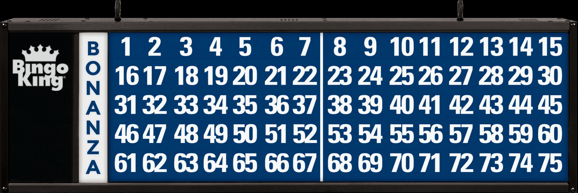 Bonanza Bingo Flashboard